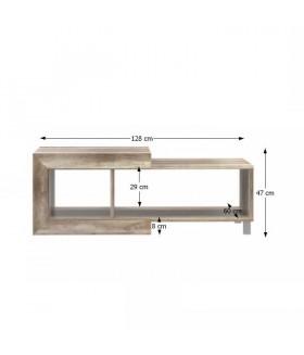 Gatik 501 dohányzóasztal, 128x60x47 cm