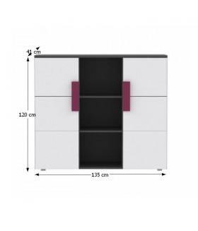 Lobete 43 komód, 135x41x120 cm
