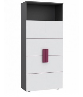 Lobete R82 polcos szekrény, 90x41x197 cm