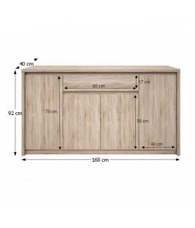 NORTY Typ 11 4 ajtós+1 fiókos komód, 168*40*92 cm