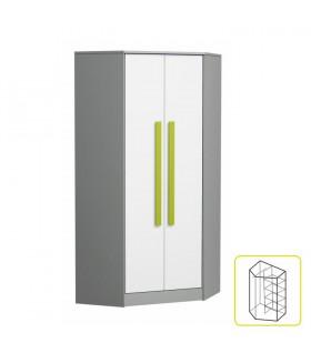Piere P02 sarok szekrény, 87x87x191 cm - zöld