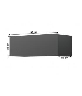 Spring ED90 fali szekrény, 90x37x31 cm - grafit