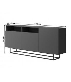 Spring EK180 komód, 180x37x80 cm - grafit