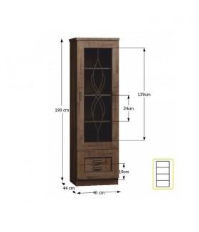 Tedy Typ T10 vitrin, 46*44*190 cm