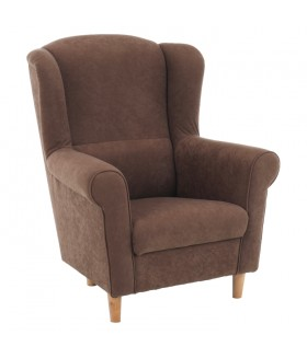 Charlot fotel, 86*72*105 cm - Alova barna