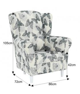 CHARLOT fotel, 86*72*105 cm - Butterfly 1