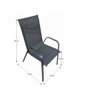 Aldera kerti szék, 54*72*96 cm