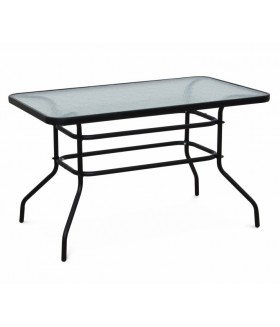 Demat New kerti asztal, 120*70*70 cm - fekete