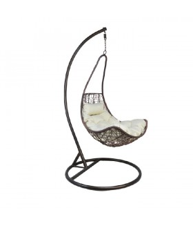 Kalea függő fotel, 80*72*134 cm - barna/krém