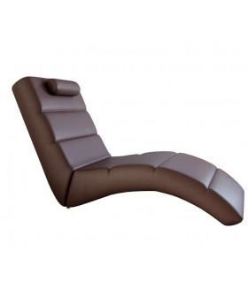 LONG pihenő fotel, 178*64*92 cm - barna
