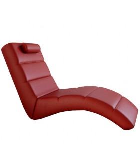 LONG pihenő fotel, 178*64*92 cm - piros